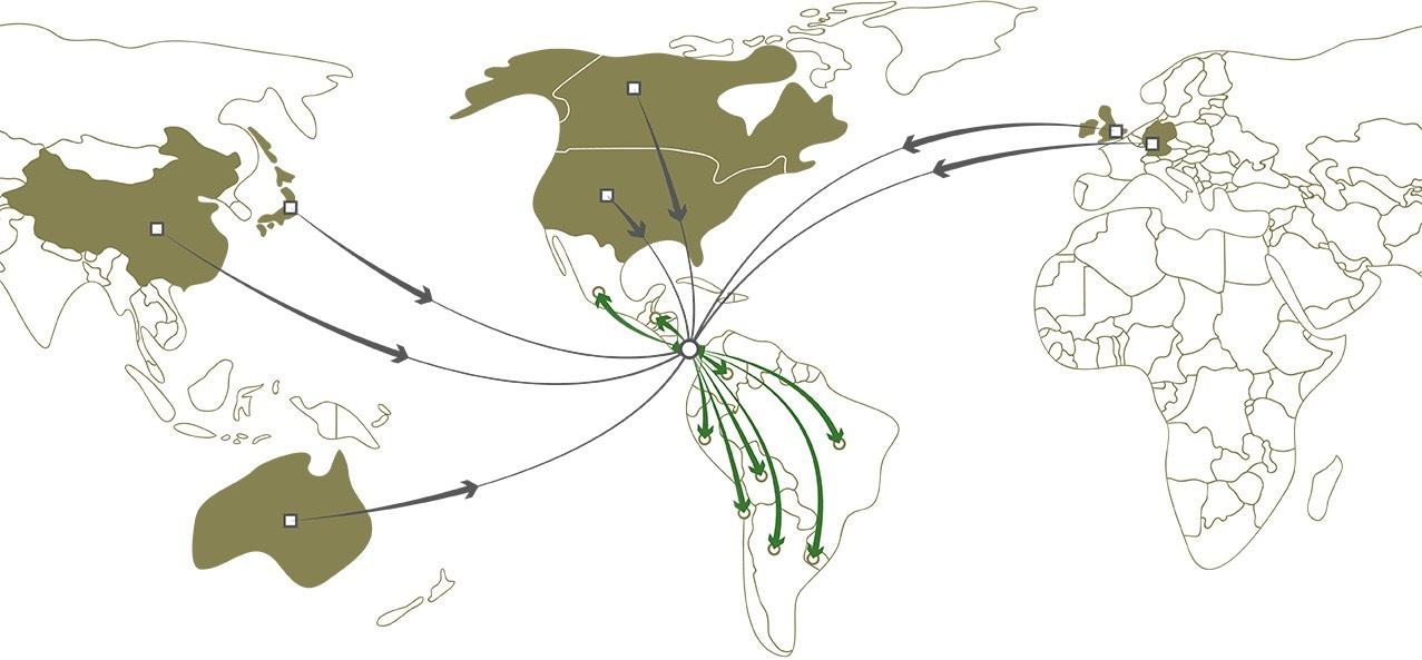 Localizacion geopolitica vuelos destinos panama