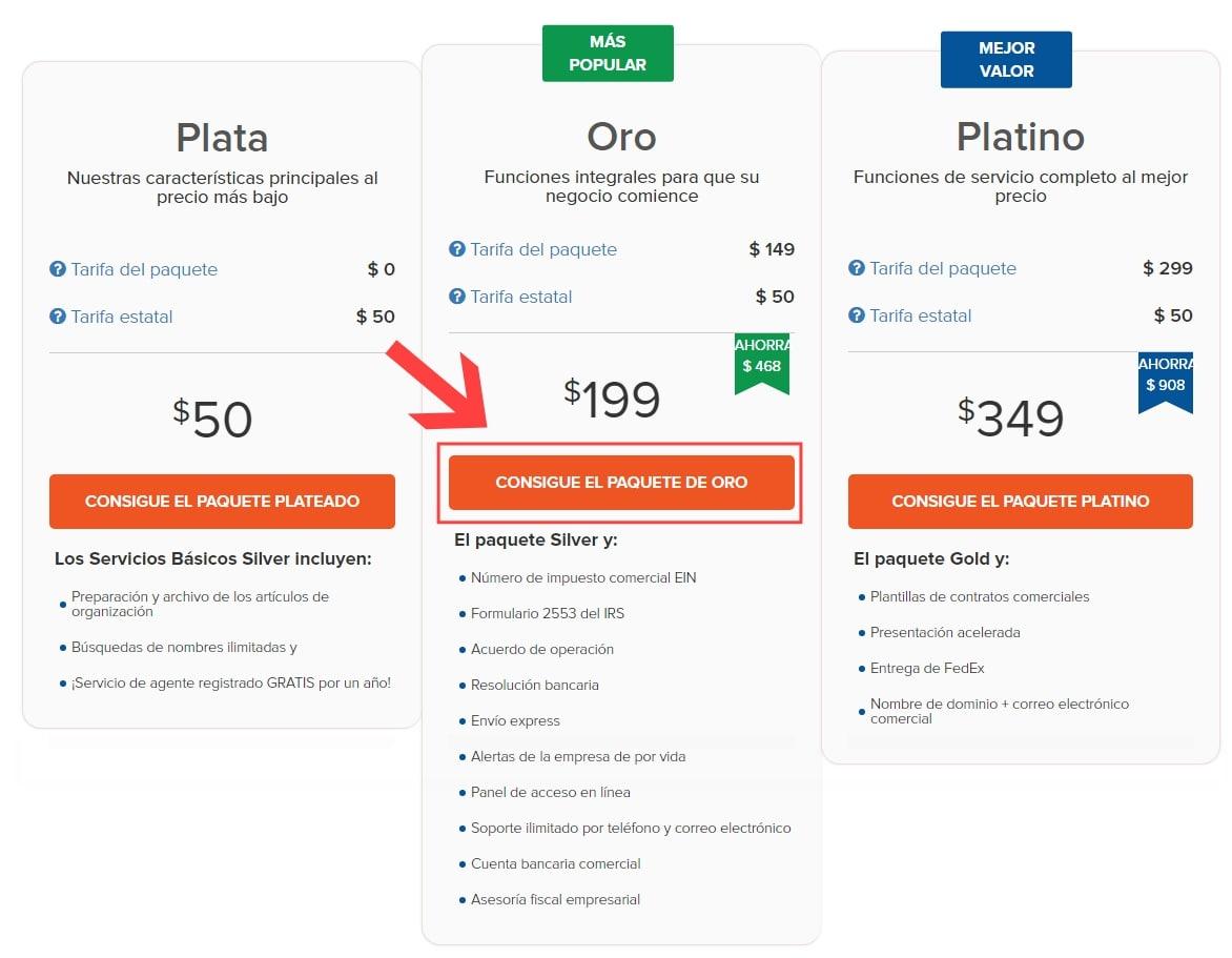 planes-precios-incfile-seleccionar-gold-llc