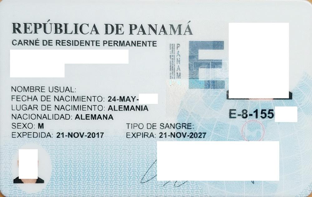 Panama Cedula de Extranjero