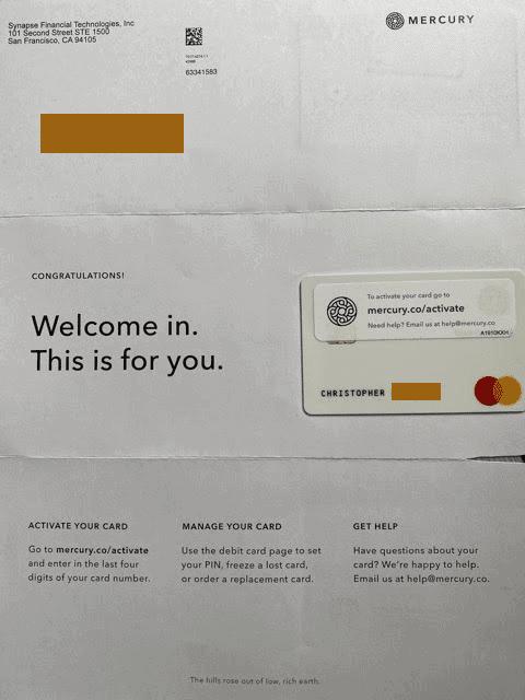 Physical Debit Card